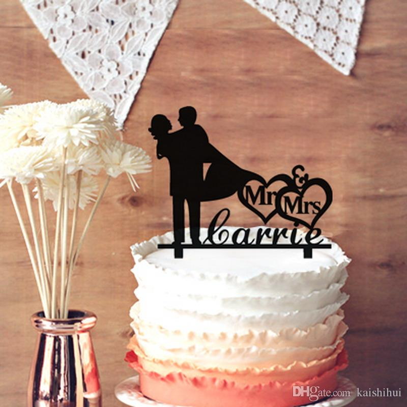 Personalized Wedding Cake Toppers Customized Your Name And Groom