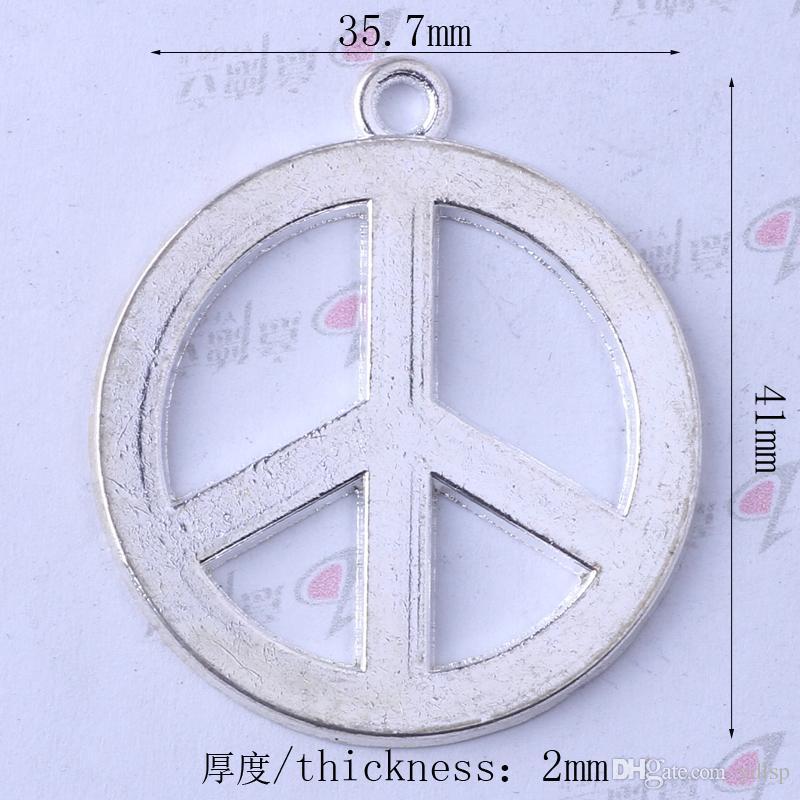 Antiguo encanto de plata / bronce marca de la paz colgante Fabricación DIY joyería colgante collar o pulseras encanto / 3391
