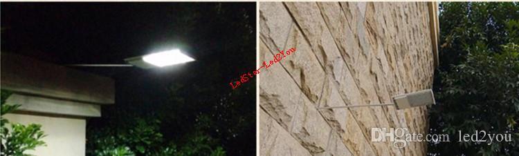 Alta Qualidade Ultra-fino À Prova D 'Água Sensor Solar Wall Street Light White Outdoor Lamp venda quente Energia Solar Luz Ao Ar Livre IP65