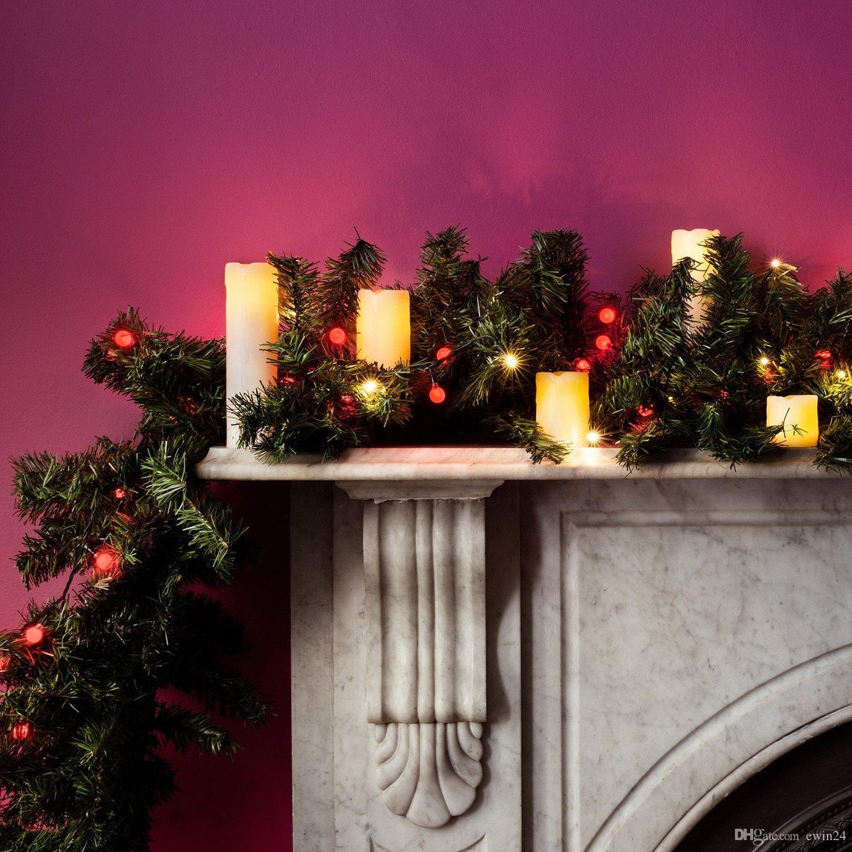 Skinny Gerçek Wax Pil Kumandalı LED Alevsiz Pillar Mumlar ışık / led pillar mumlar