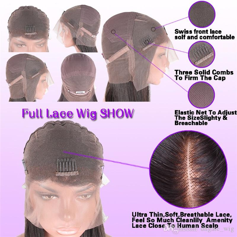 180 Density Peruvian Virgin Human Hair Ombre Full Lace Wigs #4T613 Blonde Lace Front Wig With Baby Hair Around