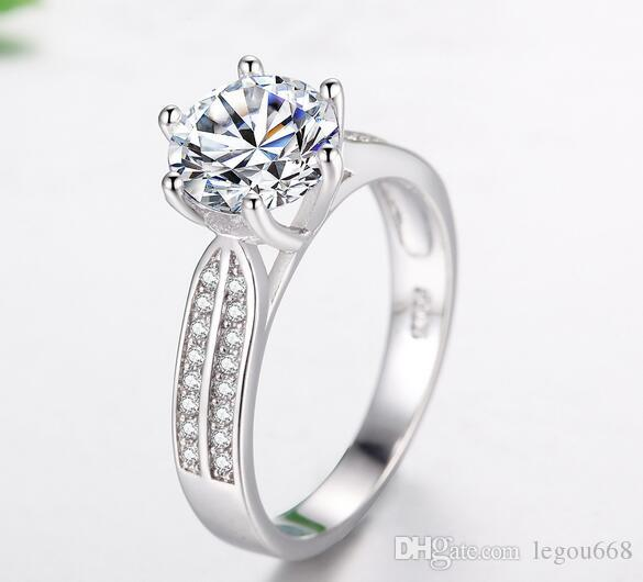 New European and American foreign trade explosion, jewelry rings, female lovers ornaments, micro zircon wedding ring, manufacturers direct w