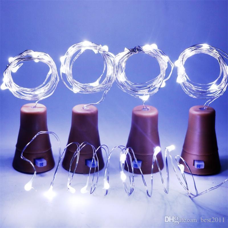 10 LED Солнечная бутылка вина пробка медная Фея полосы провода открытый украшения партии новинка ночник DIY пробка свет строка