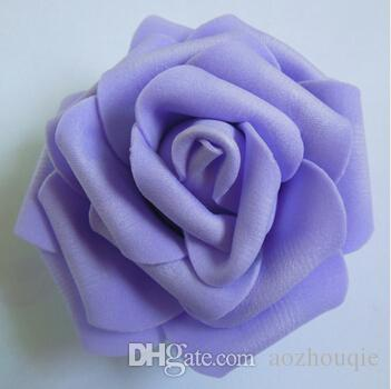 Wholesale 7cm Handmade Artificial Foam Rose Flower Heads For Wedding Decoration Kissing Ball