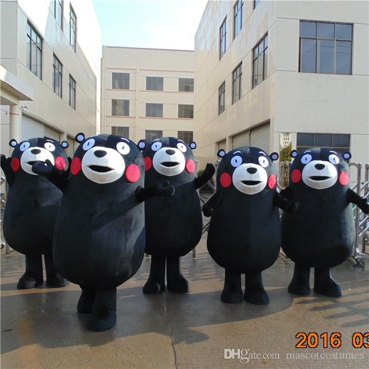일본 구마 몬 곰 만화 마스코트 의상 동물 멋진 드레스 파티에 좋은 품질의 무료 배송은 사용자 정의 할 수 있습니다
