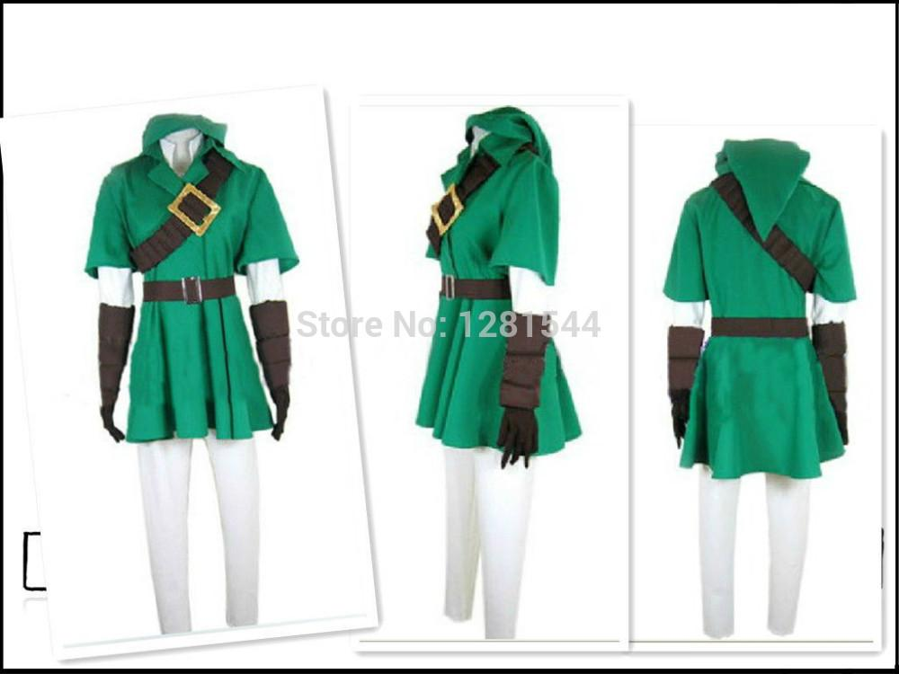 Legend Of Zelda Twilight Princess LINK Costume Cosplay Kenshin ...
