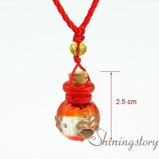 foillampwork glassessential joyas de aceite collares difusor de aromaterapia colgante frasco joyas urna de vidrio pequeñas urnas para cenizas