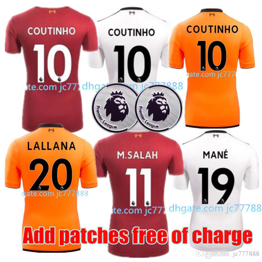 412a41169 Perfect 17 18 Liver Soccer Jerseys Custom Name Number GERRARD COUTINHO 10 Football  Shirts AAA Quality Patch EPL Wholesale Cheap Soccer Jersey Online Soccer ...