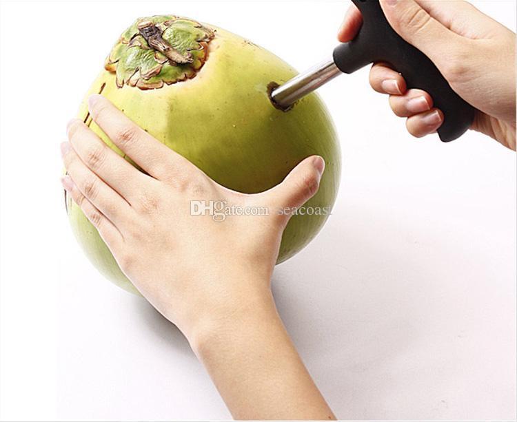 50 stücke Kokosnuss Opener Tap Junge Bohrer Coco Wasser Kokosmesser Thai Bohrloch Cut Messer Werkzeug Reinigungsstock Freies Verschiffen