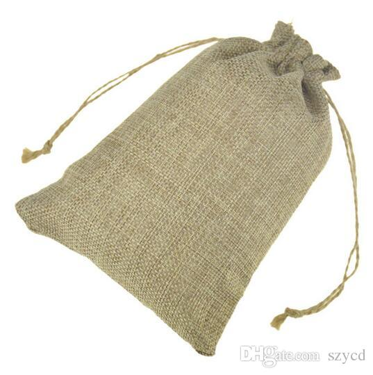 2019 Jute Gift Bags Jewelry Drawstring Pouch Rustic Natural Burlap With Hemp Cords For Wedding Party 13x18cm 15x20cm From Szycd, $0.33 | DHgate.Com