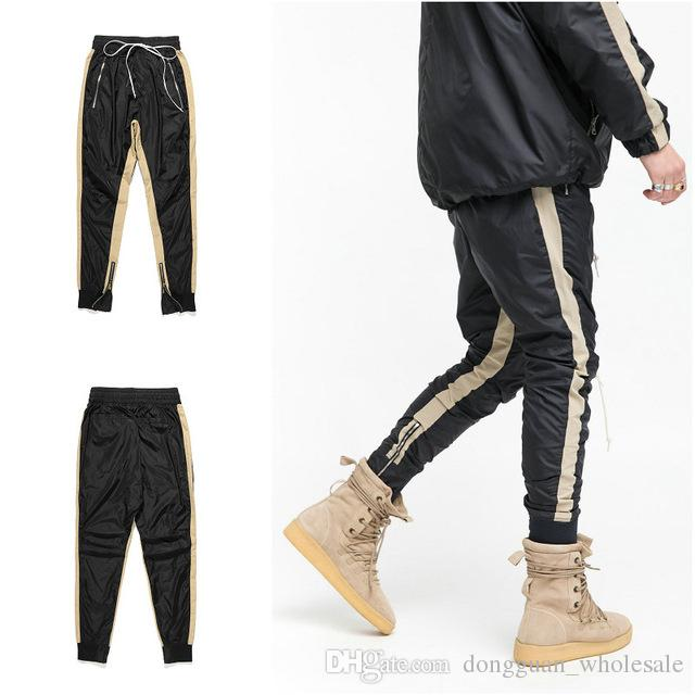 Urban Clothing For Men Track Pants With Side Stripe Hip Hop Pants Mens Streetwear Mens Joggers Trousers Harem Pants Sweatpants