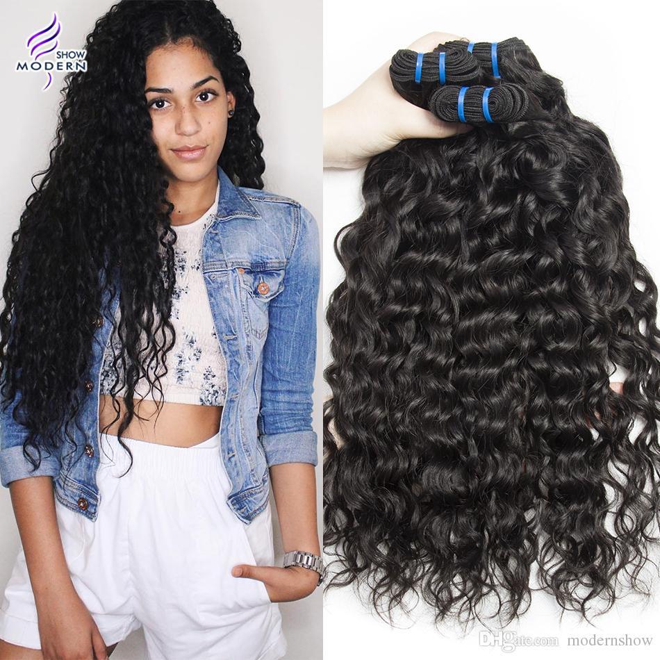 Brazilian Wet And Wavy Hair 4 Bundles Brazilian Water Wave Virgin