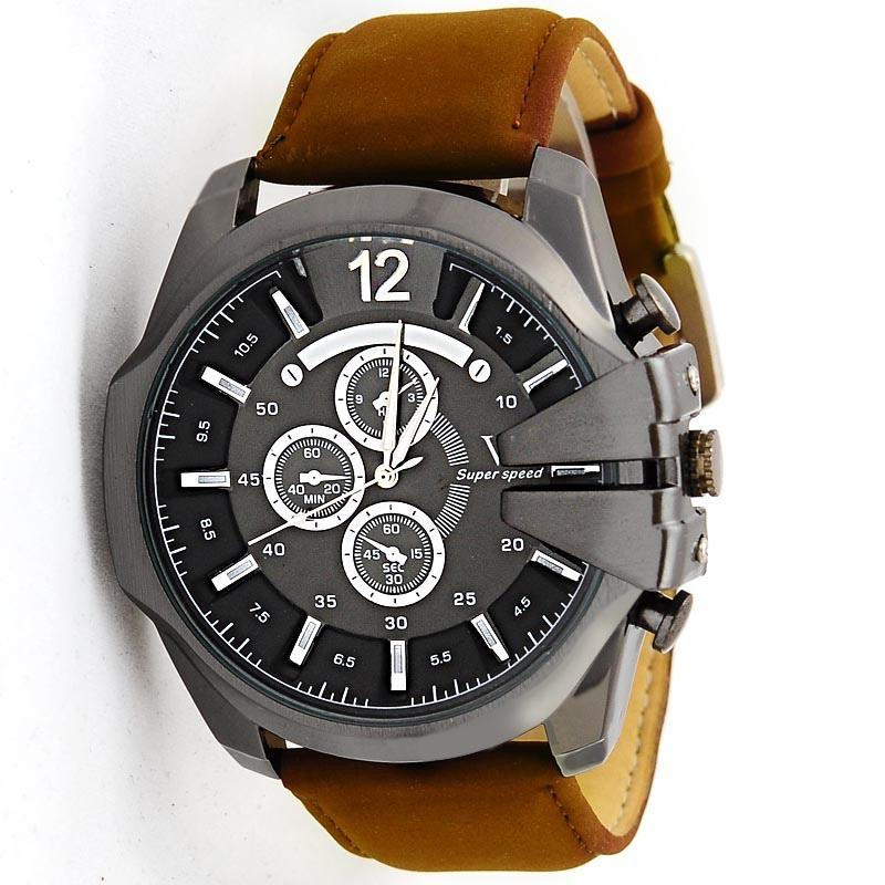 fossil men mens belt watch chronograph leather item s watches cameron store en