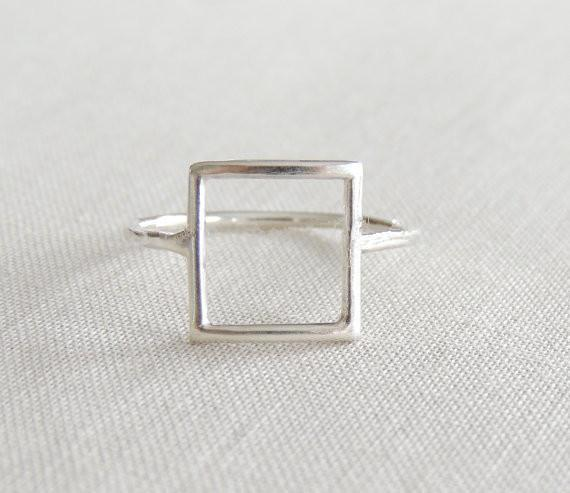 Minutes gold/silver/rose gold punk square ring gift for friends and unique jewelry JZ112 joint holiday best gift