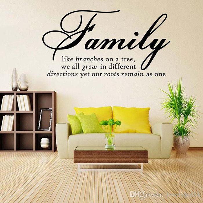 Family Like Branches On A Tree Wall Stickers Quotable Characters - Wall decals like wallpaper