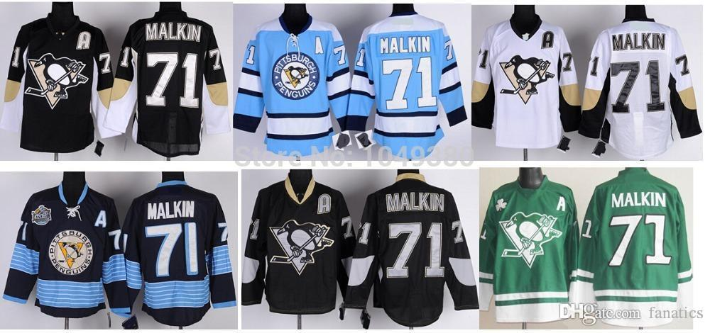 2019 2017 For Sale Pittsburgh Team Hockey Jersey  71 Evgeni Malkin Jersey  Blue White Black Winter Classic From Fanatics 45d97b442