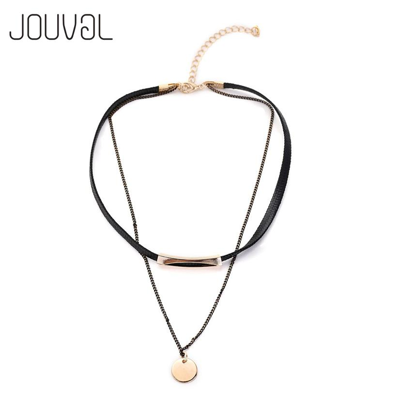 cfd62f6e0 2019 Wholesale Fashion Black Leather Chain Double Chokers 2017 Collier  Popular Neck Choker Necklace Women Collar Chocker Jewelry From Ifso