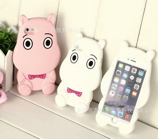silicone case 3D Hippo for Iphone6 from creative 6 s newest cell phone case of 6 plus soft drop the whole case Hippo moomin