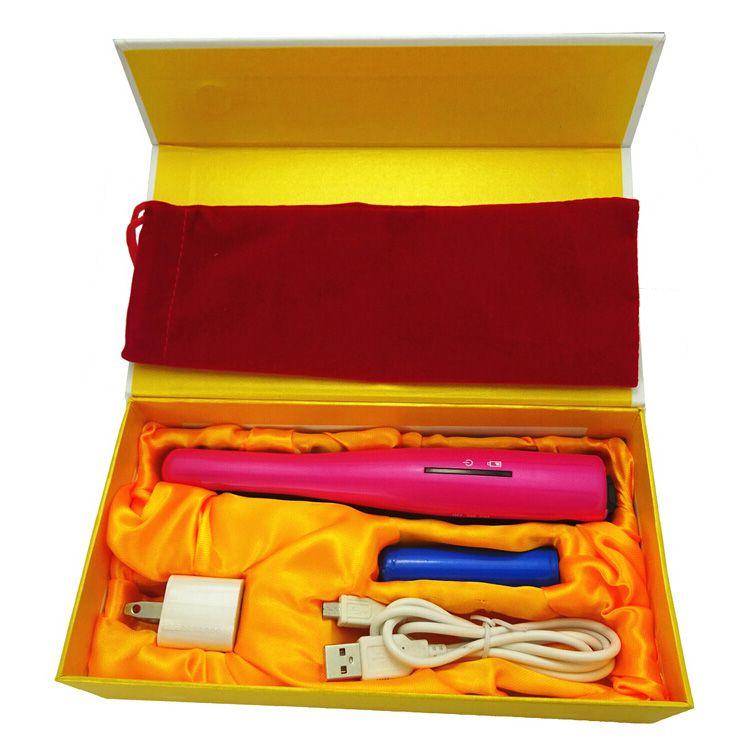 USB Power Hair Straightener Cordless Hair Straightener Mini Rechargeable Straightener Travel Flat Iron Small Pocket Hair Curler
