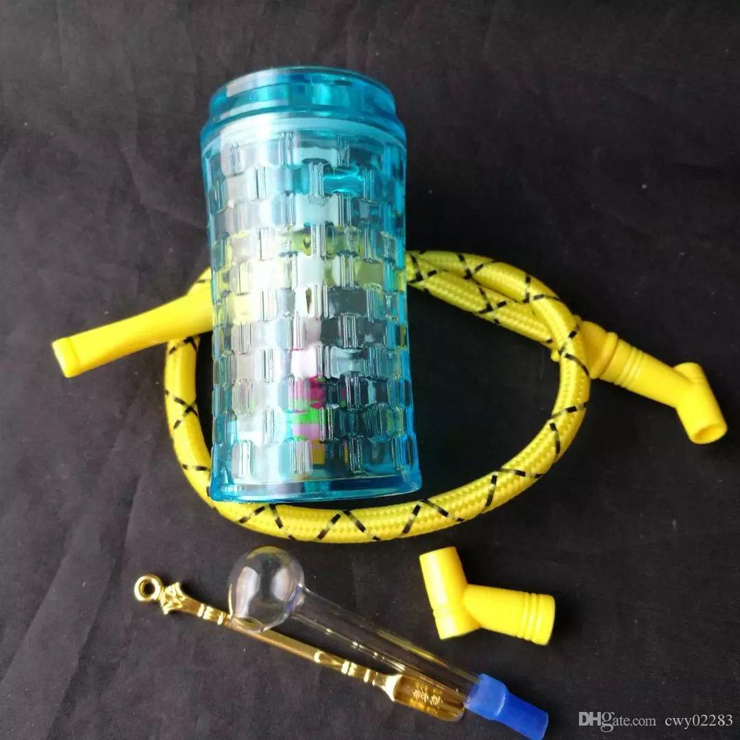 Синий Акриловый Кальян, Оптовая Стеклянные Бонги Аксессуары, Стеклянная Трубка Для Воды Курение, Бесплатная Доставка