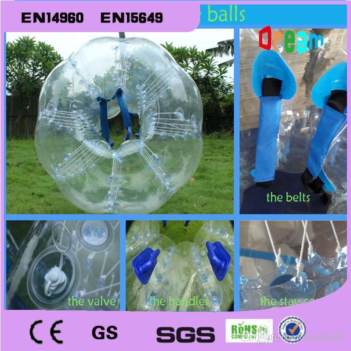 Шарик шарика футбола пузыря футбола шарика бампера 1.5 m прозрачный Раздувной Zorbing Loopy для сбывания