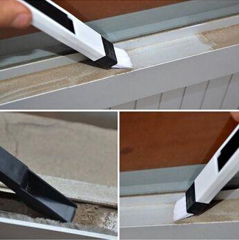 جديد وصول متعددة الوظائف نافذة تنظيف الكمبيوتر فرشاة نافذة الأخدود لوحة المفاتيح الزواية cranny الغبار مجرفة نافذة المسار نظافة 4 قطع