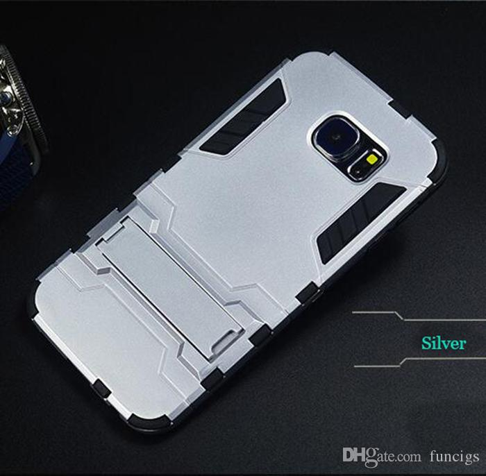 Iron Man Armor Case with Stand Mobile Phone Case for Samsung S6 edge Cell Phone Cover Case