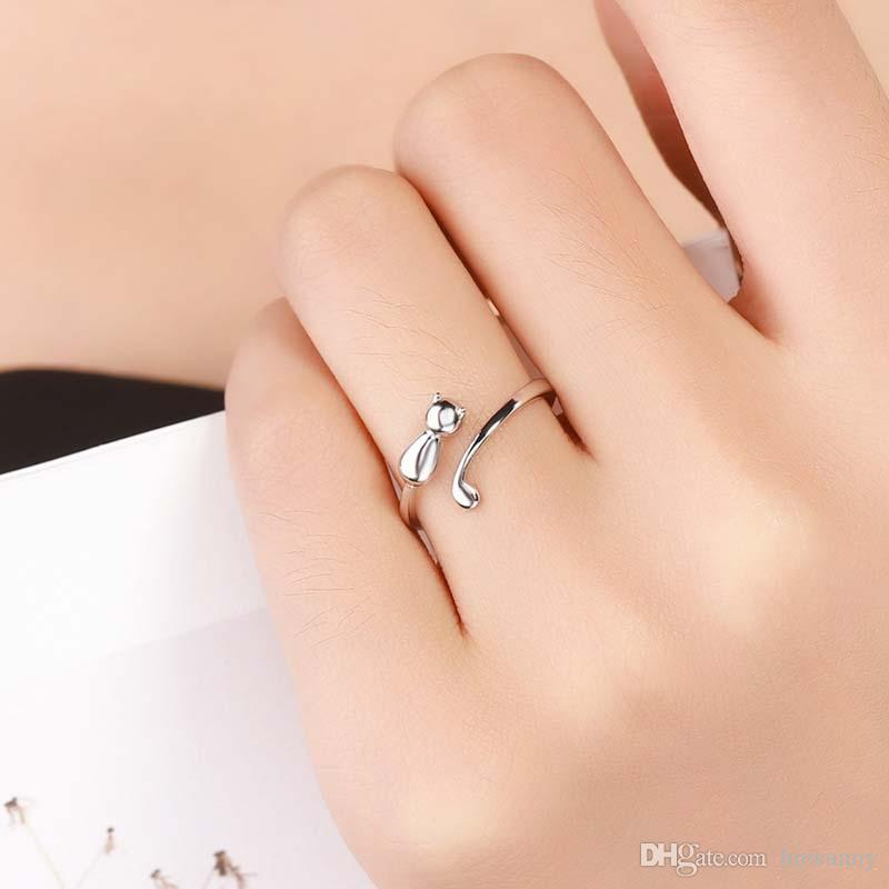 Silver Rings Jewelry Hot Sale Crystal Finger Band Rings For Women Girl Party Open Size Wholesale 0672WH