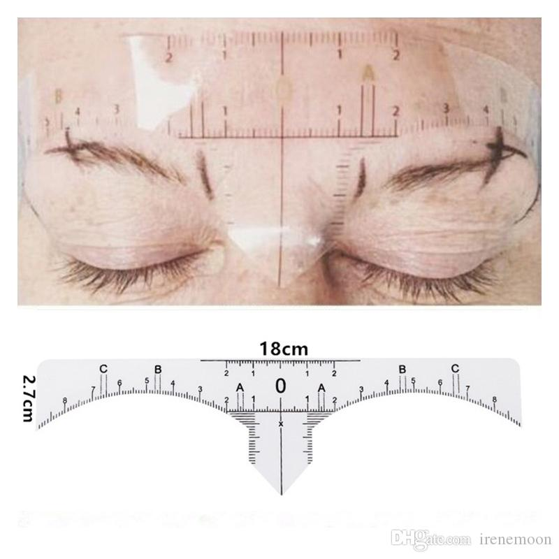 Disposable Semi Permanent Eyebrow Ruler Makeup Eye Brow Measure Tool