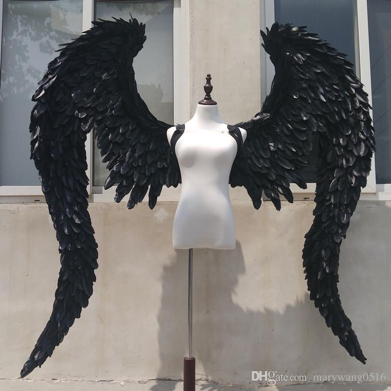 a2a705cd4c5 NEW Customized Black Devil Angel Wings Cosplay Shooting Display Props Stage  Bar Decoration Fashion Accessories EMS Birthday Party Napkins Birthday  Party ...