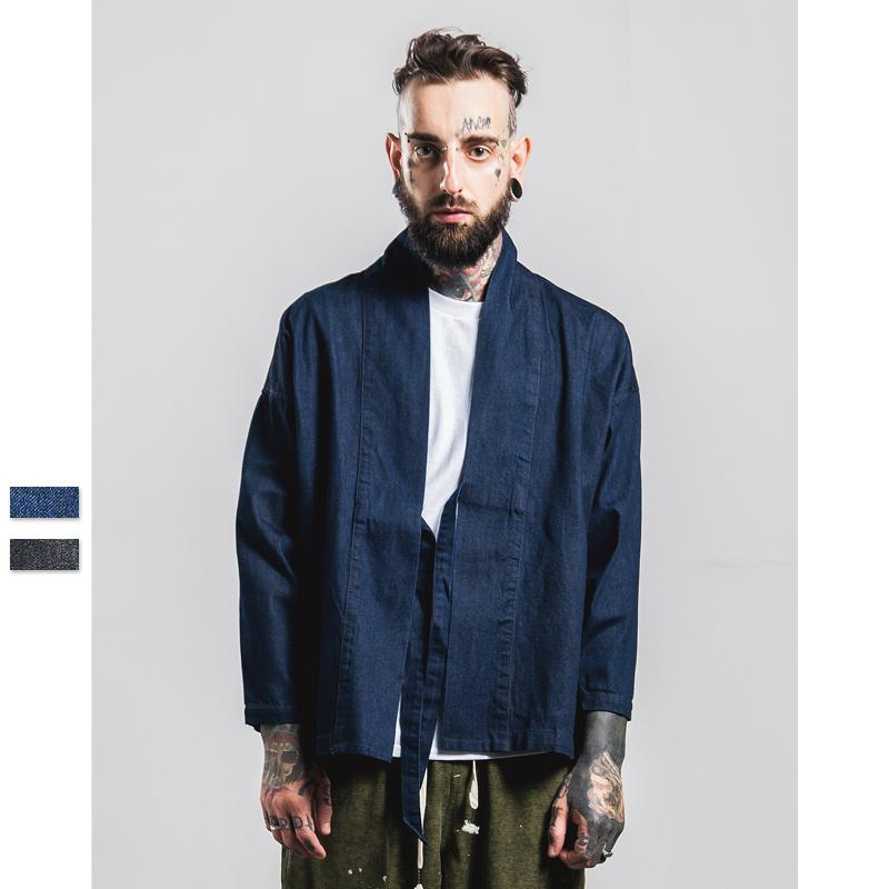Aolamegs Kimono Jacket Men Japanese Clothes Fashion Harajuku ...