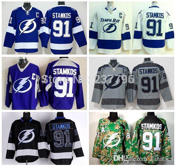 2018 new style 2016 tampa bay lightning jersey 91 steven stamkos jersey cheap blue white purple grey