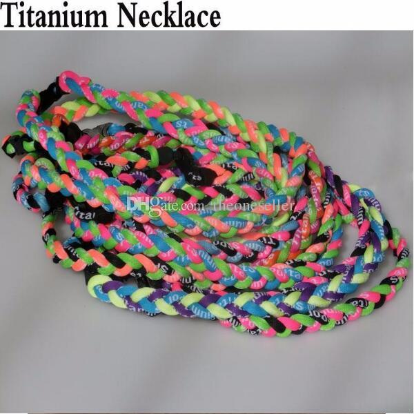 Германий титана ожерелье 3 веревки торнадо плетеные спорт футбол снукер новый торнадо ожерелье здоровый ювелирные изделия тела 18