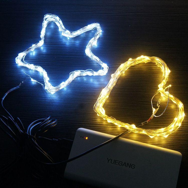 Flessibile rame USB filo LED luci della stringa 5v striscia impermeabile illumina WW TW Natale festa di nozze decorazione di Natale in bicicletta