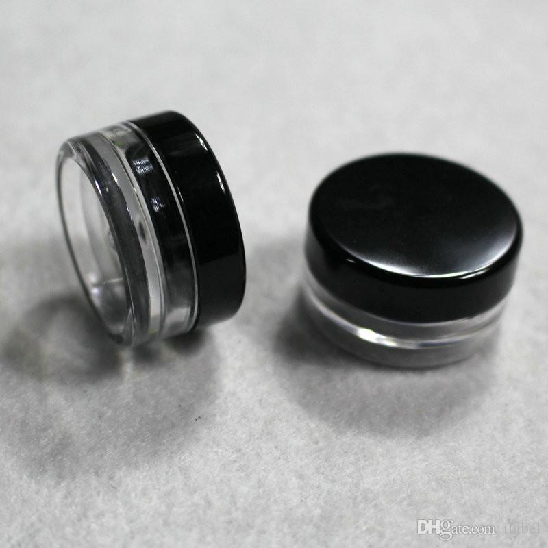 100 stücke Kleine 3g schwarz abdeckung Mini creme jar, kosmetische flasche, probengläser, kleine Kosmetische Container Kosmetische Verpackung