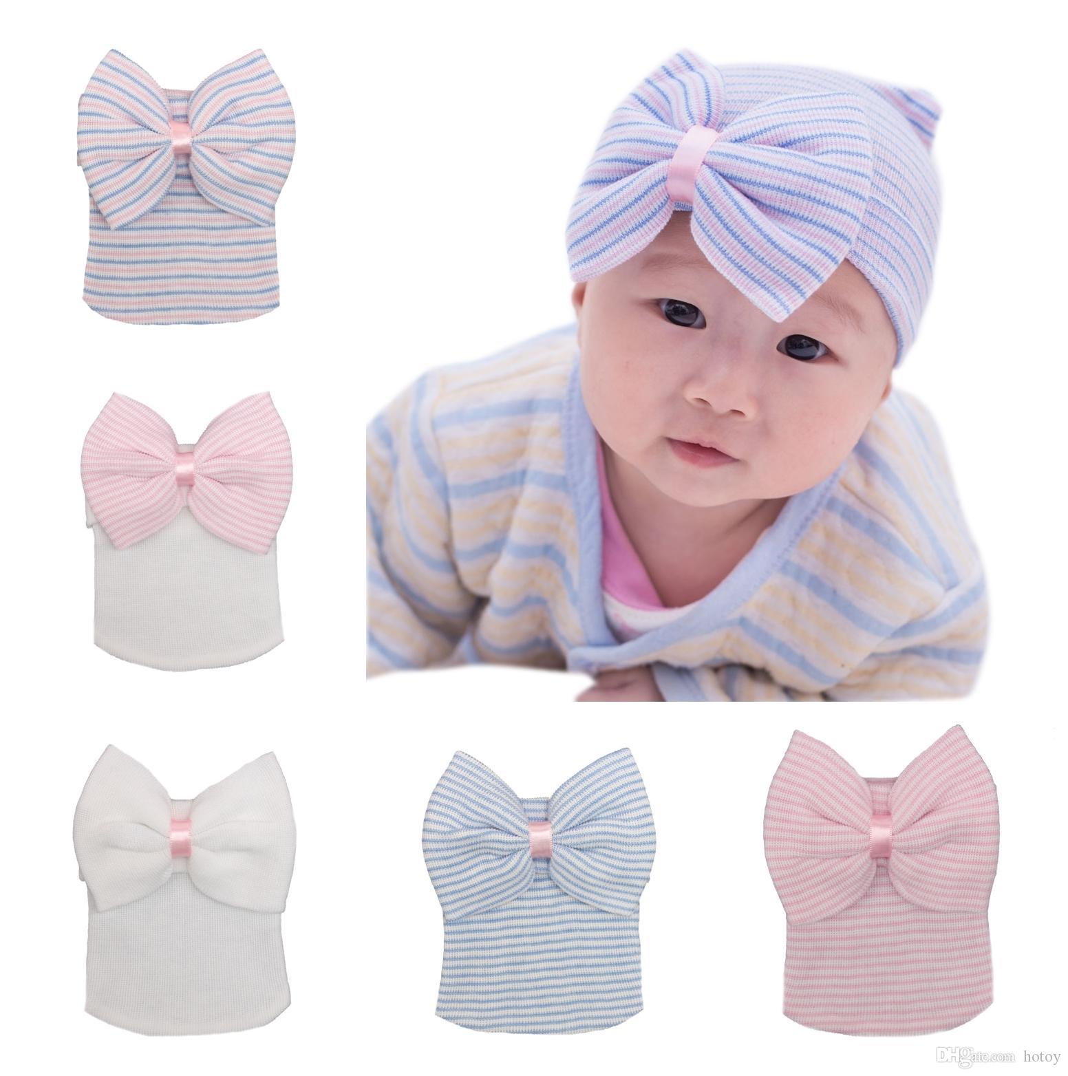 Großhandel Mode Bowtie Hüte Babys Mädchen Jungen Tiara Winter Warme ...