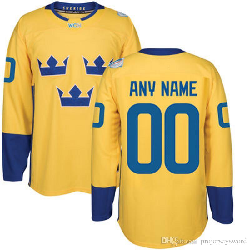 f657e6290 2019  8 Rasmus Dahlin 2016 World Cup Team Sweden Hockey Jerseys Kruger  Ekholm Forsberg Stralman Hjalmarsson Landeskog Hedman Custom Hockey Jersey  From ...