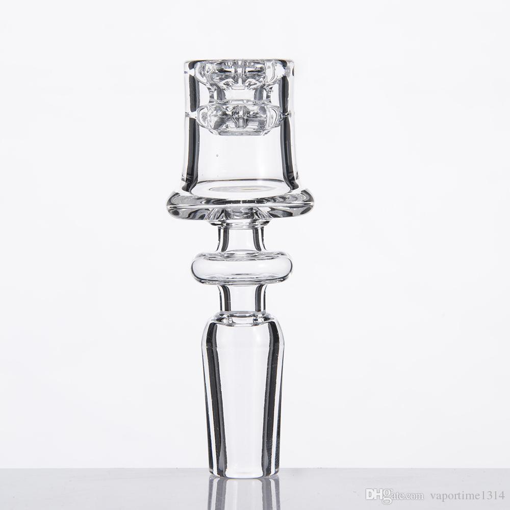 Diamantknoten Enail Quarz Elektrische Nägel Mattierte 19,5mm Schüssel Für 20mm Spule Elegantes Design Domeless Dab Rig 523