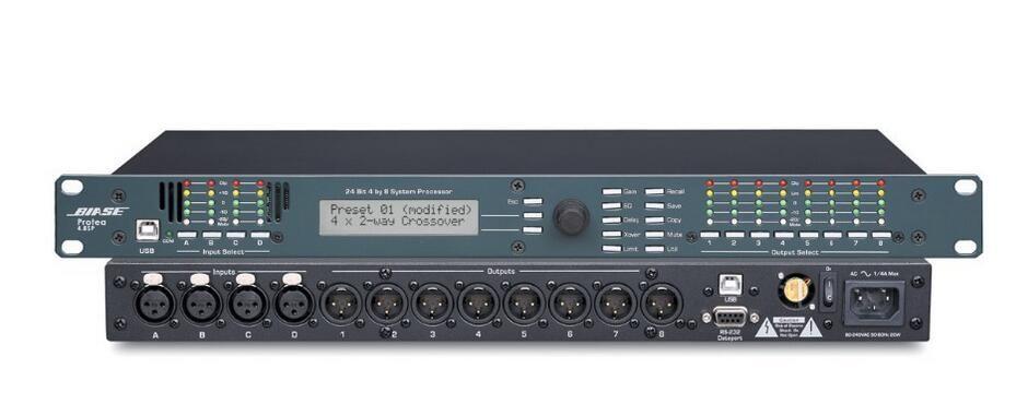 ASHLY Speaker management 4.8SP Digital Signal Processor Pro DSP Digital Audio Processor 4 Input / 8 Output Digital Speaker Processor audio
