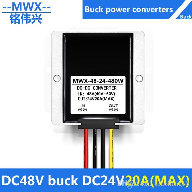 DC48V a DC24V, convertidor de CC de CC, módulo reductor de 24V de 24V, convertidor de alimentación de automóvil a prueba de agua, 48V a 24V, 40V-60V a 24V