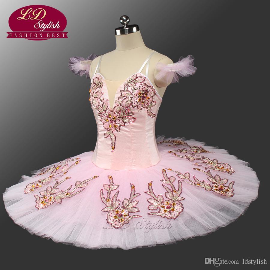 Nuevo Pink Classical Ballet Tutu LD0047 Adult Pancake Tutu Ballet Ballet Profesional Tutus Pink Sleeping Beauty Tutu Disfraces
