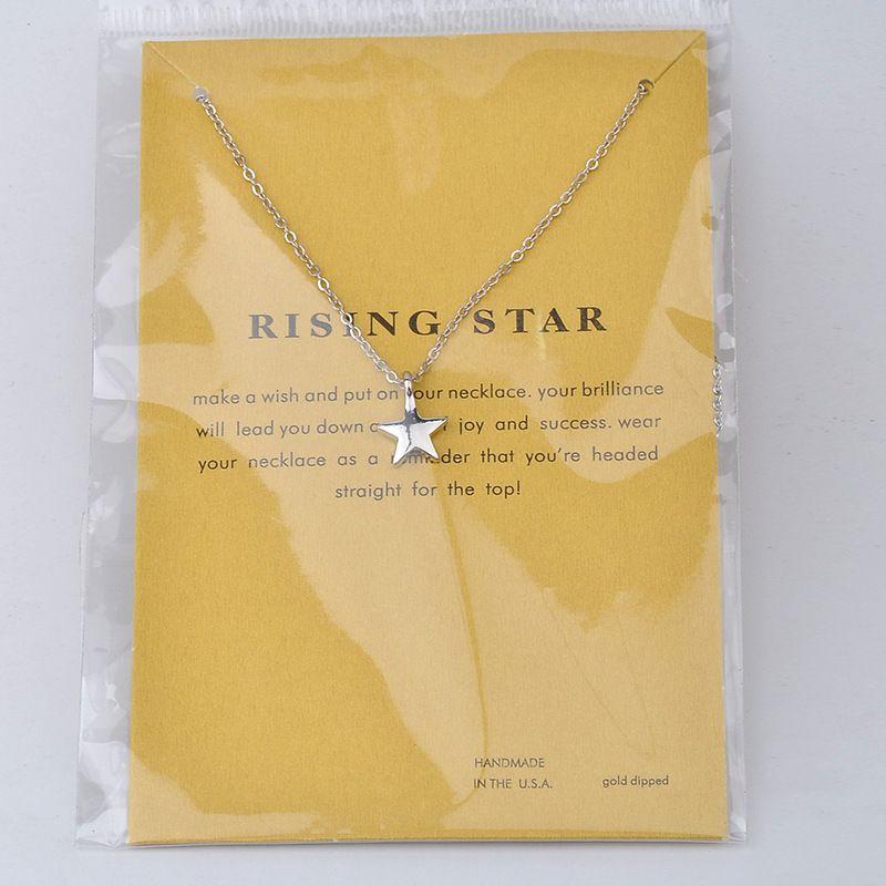 Dogeared повышение Звезда наилучшие пожелания повезло крошечный Шарм Ожерелье для девочек серебро позолоченные ключицы цепи ожерелье женщины ювелирные изделия