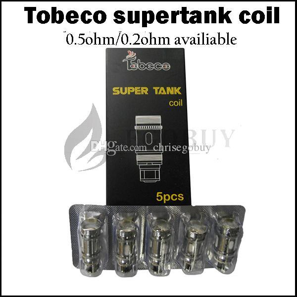 100% authentisch Tobeco Super Tank Spulen .2ohm .5Ohm OCC Spule für Super Tank Nano Supertank mini 25mm Turbo KS atlantis 2 clearomizer Tanks