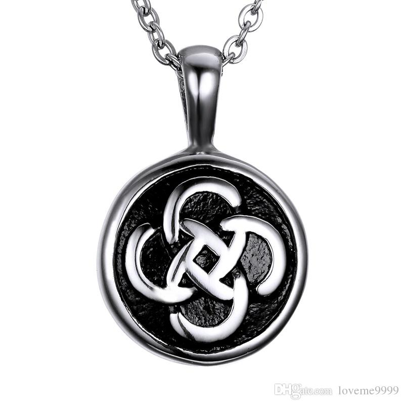 High quality Celtic knot openable 316L Stainless Steel Cremation Round Pendants Memorial Ash Urns Lockets Pendant Necklaces Urns Jewelry