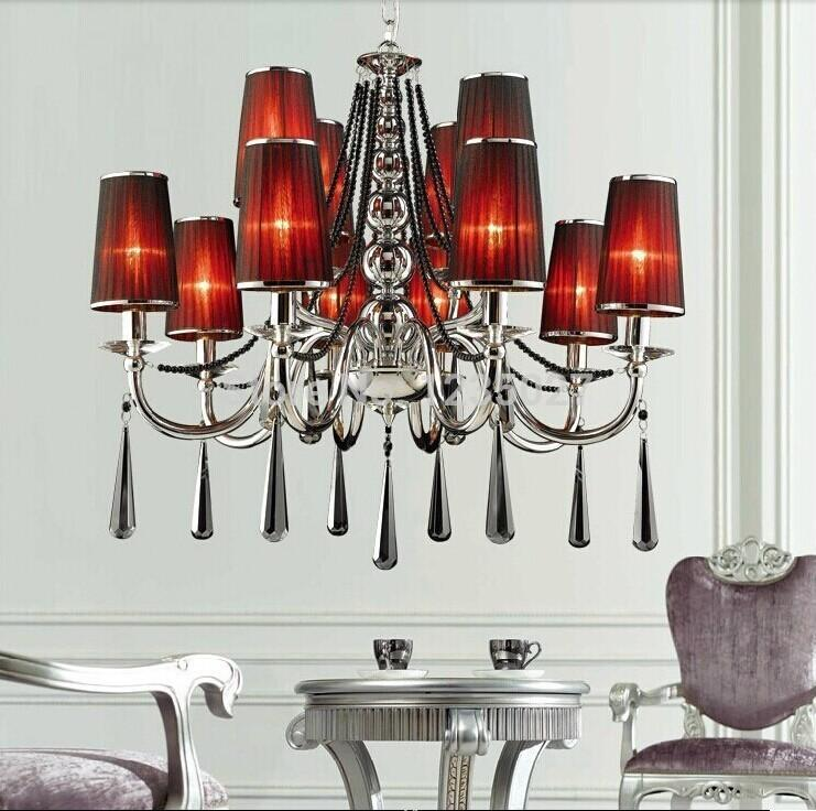 Frete grátis D700mm H1000mm E14 * 6 luzes Modern Luxury Elegante lustre de cristal, Lustre moderno para Decoração de Casa
