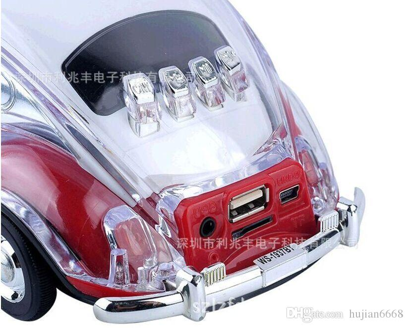 /WS-1937BT colorful bluetooth mini speaker car shape mini speaker sound box MP3++U disk+TF+FM function+bluetooth