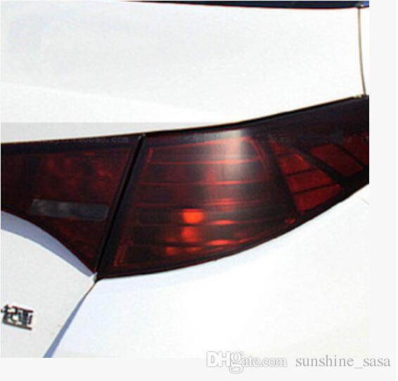 30cmx100cm New Auto Car Smoke Fog Light Headlight Taillight Tint Vinyl Film Sheet Sticker Wrap Red Bllack Blue White GreenYellow
