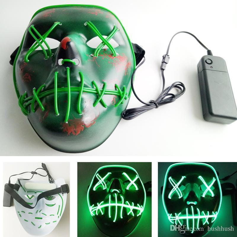 Led Masks Halloween El Wire Mask The Purge 3 Election Year Luminous ...