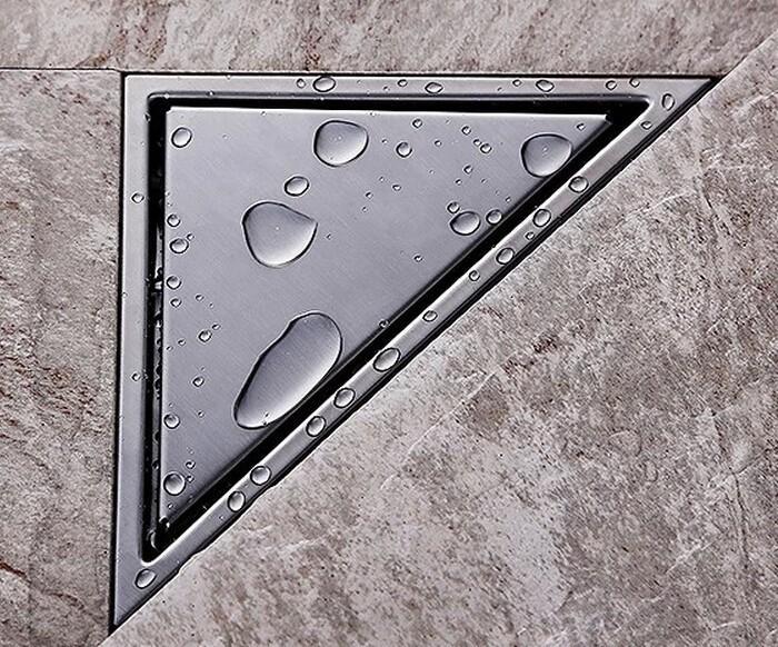 무료 리드 숨겨진 유형 삼각형 타일 삽입 바닥 폐기물 grates 샤워 드레인 232mm * 117mm 304 스테인레스 스틸 욕실 바닥 드레나 DR055