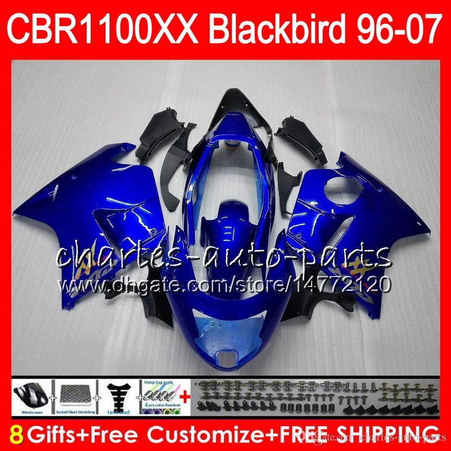 Body For HONDA gloss blue Blackbird CBR1100 XX CBR1100XX 96 97 98 99 00 01 81HM4 CBR 1100 XX 1100XX 1996 1997 1998 1999 2000 2001 Fairing